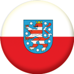 Thuringia State Flag 58mm Mirror